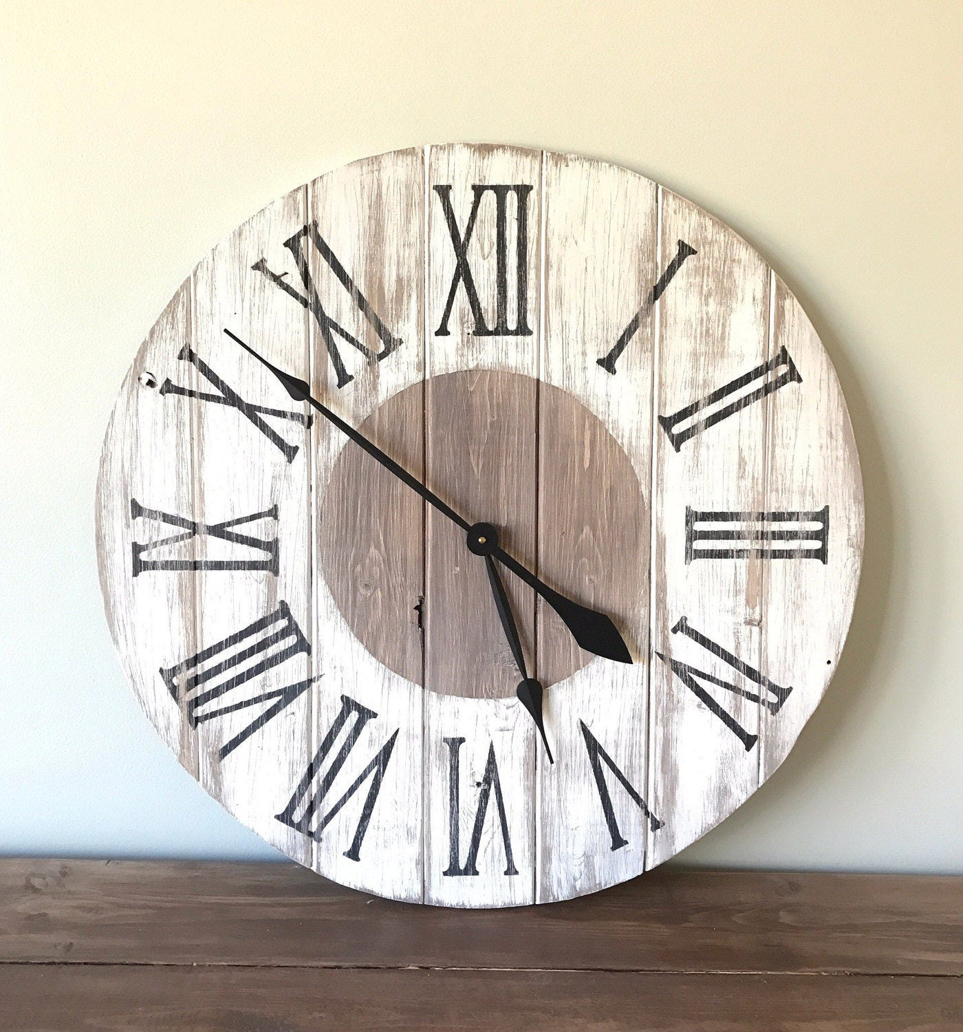 24 In Rustic Farmhouse Wall Clock