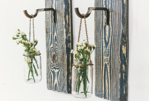 Weathered wood wall decor : Distressed wood wall decor rustic hanging aged