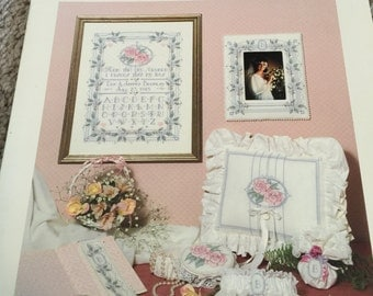 Dimensions Wedding Treasures by Nancy Rossi Book One counted cross stitch booklet