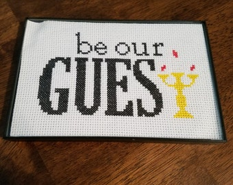 Be Our Guest Cross Stitch Picture