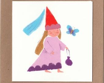 Princess with purse card
