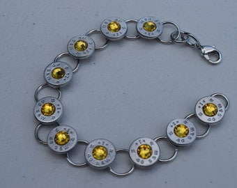 9mm Bracelet with Swarovski Crystals & Stainless Steel Jump Rings