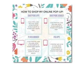Facebook Graphic- How To Shop Social Media Boutique- approved fonts and colors- digital file