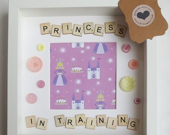 Princess In Training Box Memory Picture Frame