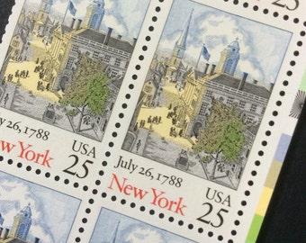 10 Unused New York Statehood Vintage Stamps