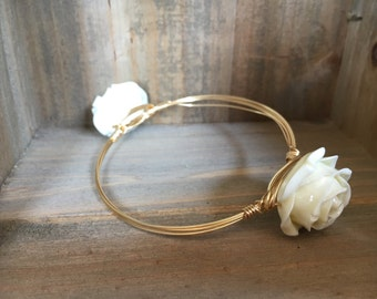 White Rose Bangle