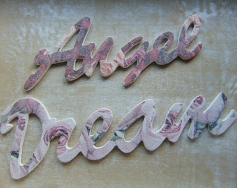 Dream and Angel Wooden Words
