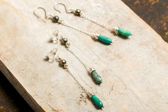 Earring silver 925 - Amethyst - Moonstone