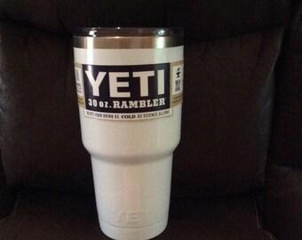 White powder coated yeti free shipping!!!
