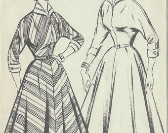 1950s Vintage Sewing Pattern B38 DRESS (1320) Stule 616