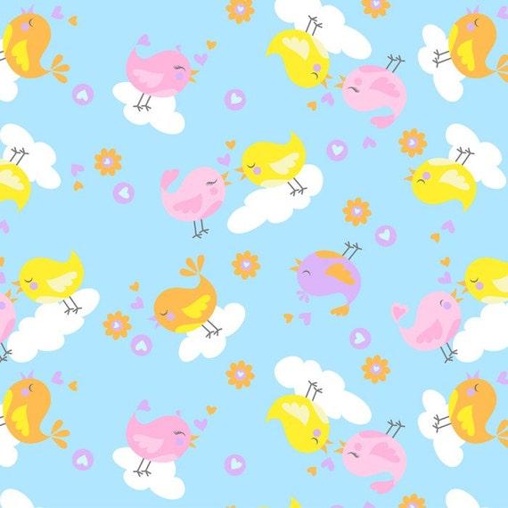 Items similar to heavenly plush kissing birds anti pill for Celestial fleece fabric
