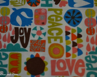 Peace and Love Fabric
