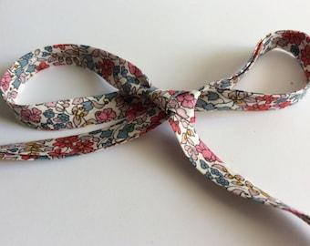 Liberty of London bias binding, Emilia's Flowers