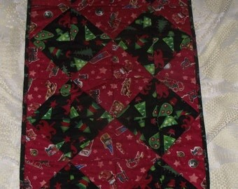 "Quilted Christmas Table Runner 16"" by 46"""