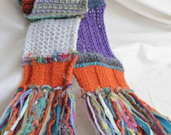 Wild scarf // Crazy scarf // Gypsy scarf // Fun scarf // Unique scarf // Boho scarf // Funky scarf // colorful scarf //