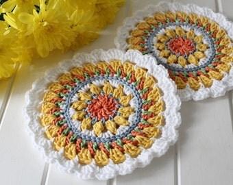 Crochet- Mandala Doilies (Set of Two)