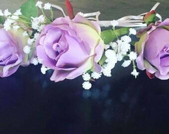 Flower Crown: Demeter in Lavender