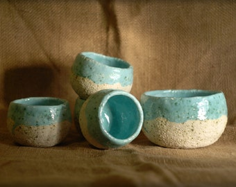 Small bowls for wine, Bowl for tea, Cereal bowls, Blue white bowl, Ceramic pialat, Pottery pialat, wine accessories