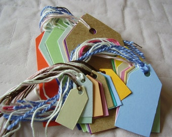 30 Card Labels ~ Assorted Tags For Gifts ~crafts ~ Hand Made Soaps ~ Preserves