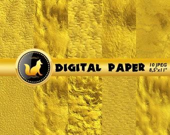 Crumpled Gold Background,Gold Digital Paper,Gold Scrapbook Paper,Gold Backdrop,digital paper,Blur Background,scrapbooking paper,crumped art