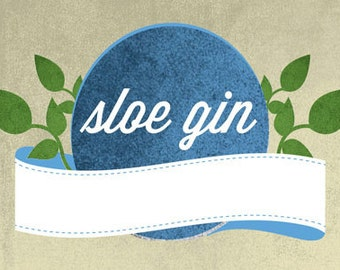 Nutley's Sloe Gin Labels to Personalise, pack of 12