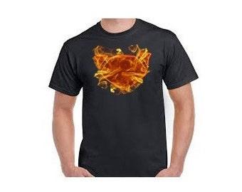 PUCKSUCK ON FIRE - Pucksuck, raccoon, raccoon t shirt