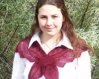 Japanese Mystery Scarf Knitting Pattern- Instant Download