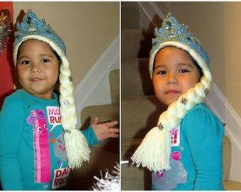 Queen Elsa Hat/Frozen Hat.