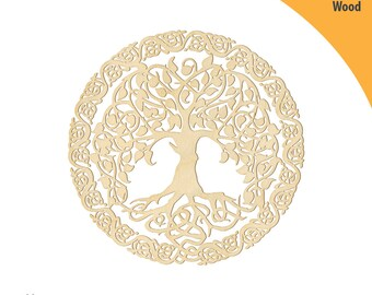 Tree of Life Wood Cutout Shape, Laser Cut Wood Shapes, Crafting Shapes, Gifts, Ornaments Tree of Life