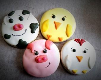 One Dozen Animal Cookies