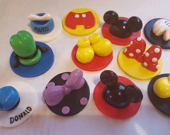12 Disney Cupcake Toppers