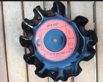 Vintage Vinyl Record Key Holder - Bryan Ferry - As The World Turns