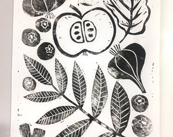 Linoprint Autumnal Collection