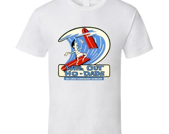 Vintage Surf T-shirt Wipe Out Hodads 1962