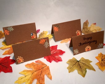 Thanksgiving Place Cards/Food Labels Set of 6