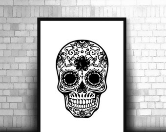 Mexican Skull Prints Bedroom Picture
