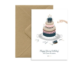 A6 card - happy birthday - happy birthday young
