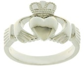 Men's Silver Claddagh Ring