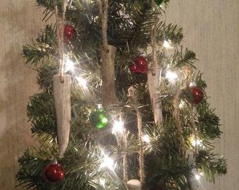 Handmade Deer Antler Christmas Ornaments