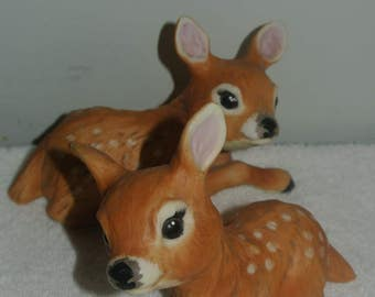 Snuggle Babies 1988 River Shore Fawn Baby Deer Figurines