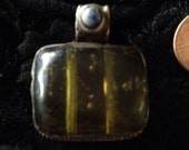 Tibet  amber resin pendant with lapis bead spring special
