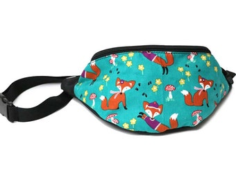 Fanny pack Fox Fun  - Hip Waist Bag with 2 zippered pockets