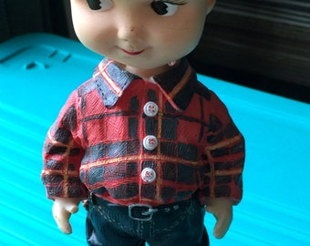 Vintage Buddy Lee Dungarees Advertising Bobble Head Doll