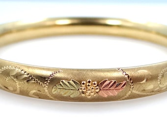Black Hills Gold by Coleman Gold Filled Bangle Bracelet
