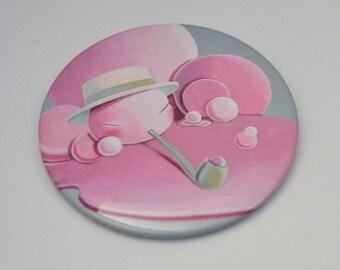 Mr. Bubble button pin