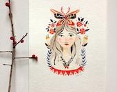 Lidia - Original 5 x 7 Watercolor