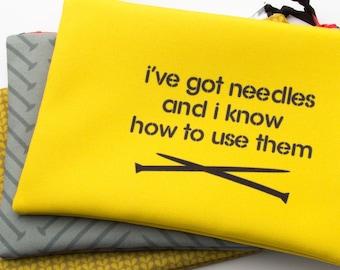 Zipper Bag, Fiber Art Geek, Got Needles