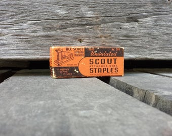 Vintage - ACE Scout Staples - Box with Staples