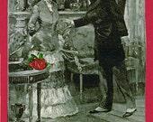 Romance, 4 cards about love, valentine cards, Victorian love cards, Love, love note cards, Victorian illustrations about romance,romantic