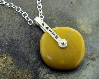 Yellow Gemstone Talisman Necklace, Faith and Joy, Inspirational Jewelry by Kathryn Riechert
